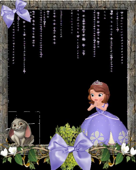 Para hacer invitaciones, tarjetas, marcos de fotos o etiquetas, de Princesa Sofía para imprimir gratis.
