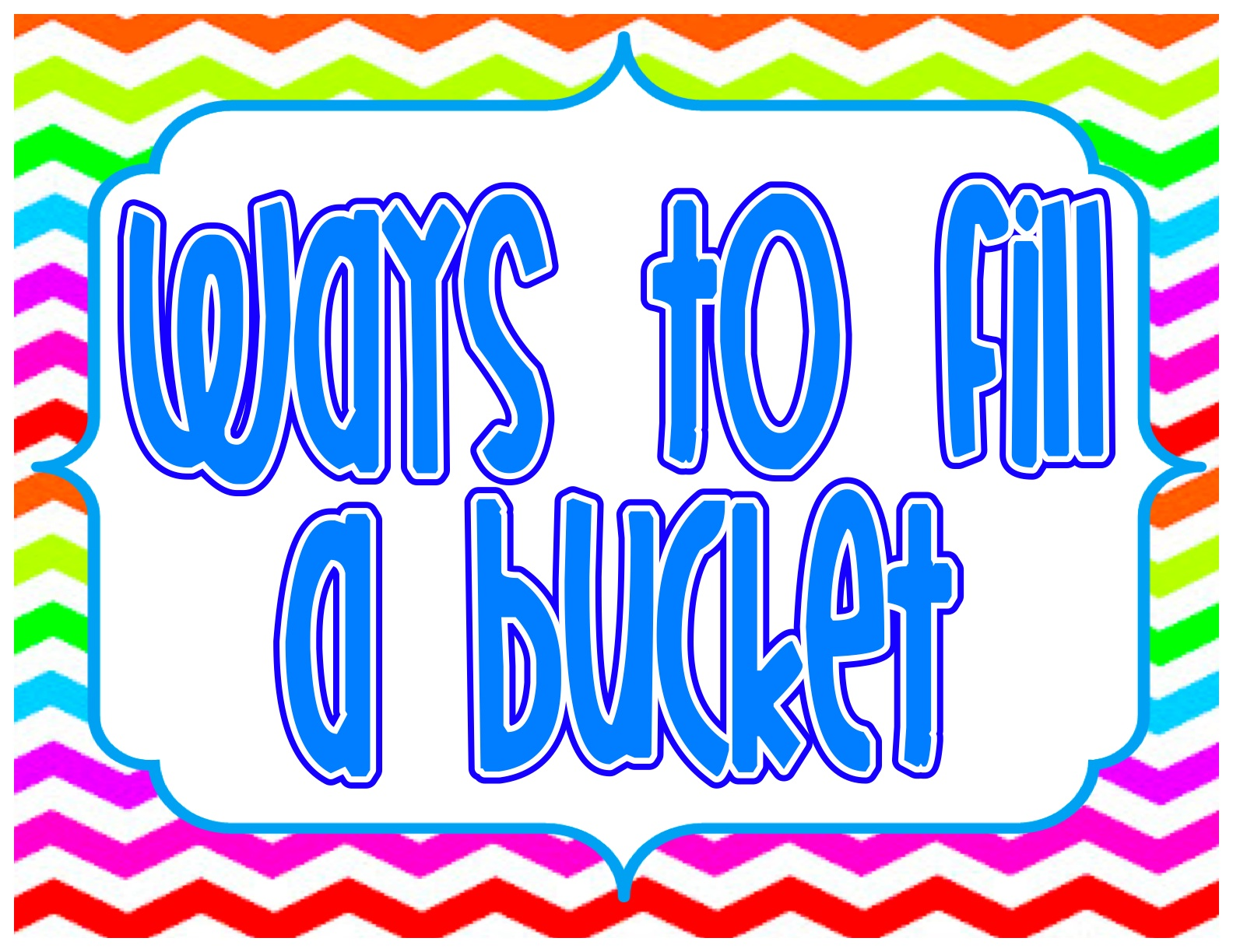 Have You Filled A Bucket Today Amanda Beth Online