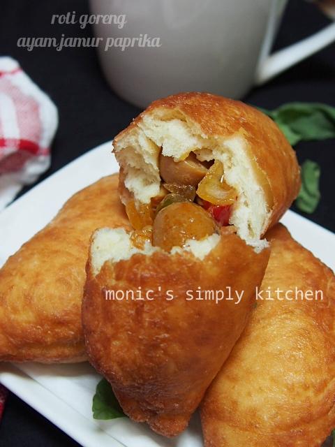 resep roti goreng ayam jamur
