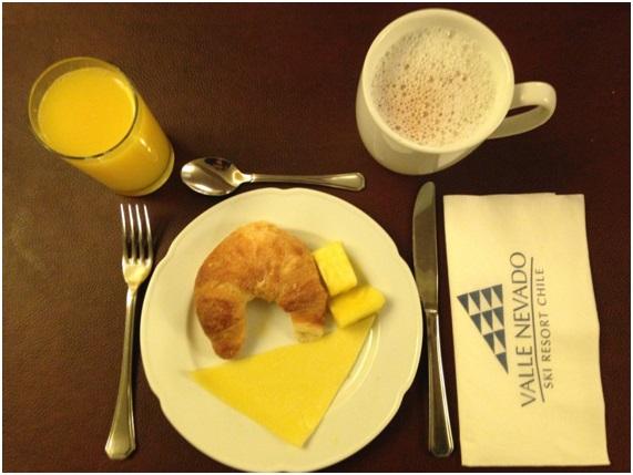 Café da Manhã em Valle Nevado