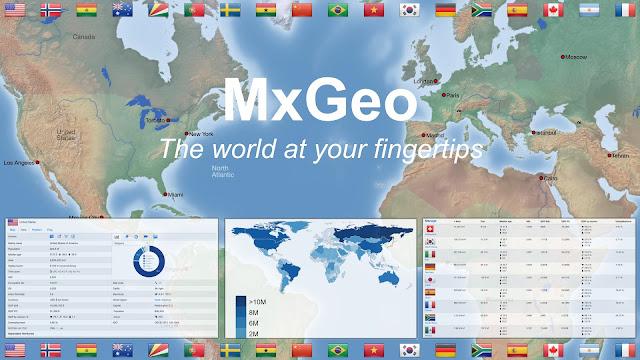 تنزيل تطبيق World atlas & map MxGeo Pro 6.5.0 - تطبيق أطلس وخريطة العالم  MxGeo Pro