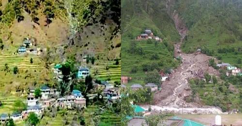 कांगड़ा के शाहपुर की बोह घाटी, पहले और अब: रुलेहड़ गांव के हाल बयां करती ये तस्वीर