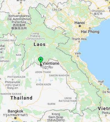vientiane laos map pin