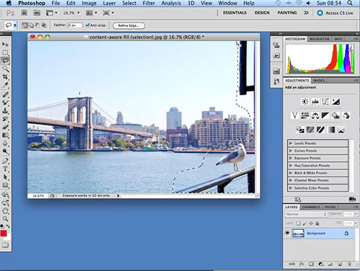 Content Aware Patch and Move in Adobe Photoshop
