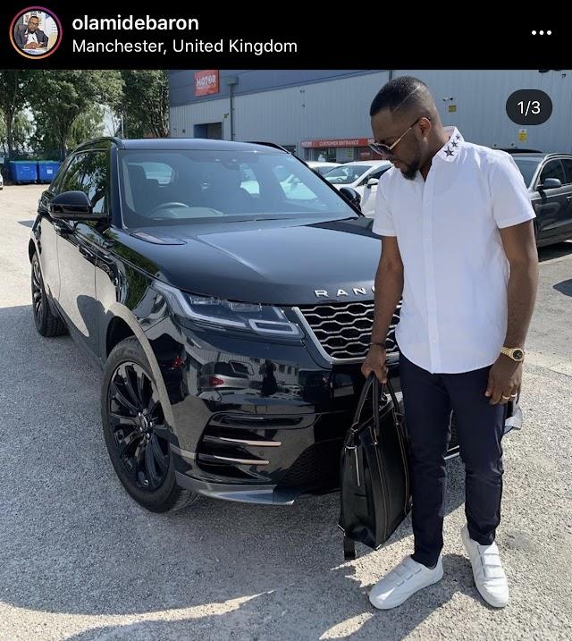 Nigerian Showbiz & Sports Promoter Olamide Baron acquires a 50Million Naira Worth Range Rover Velar