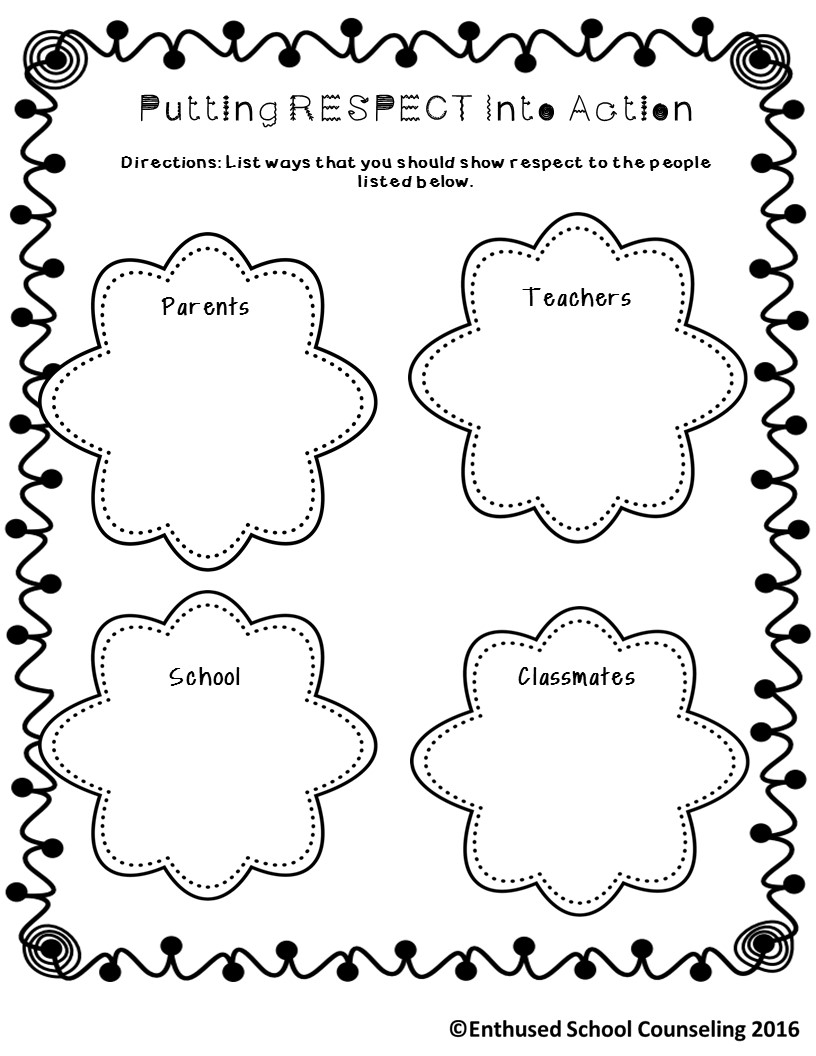 coloring pages showing respect | The Enthused School Counselor