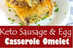 Keto Sausage & Egg Casserole Omelet