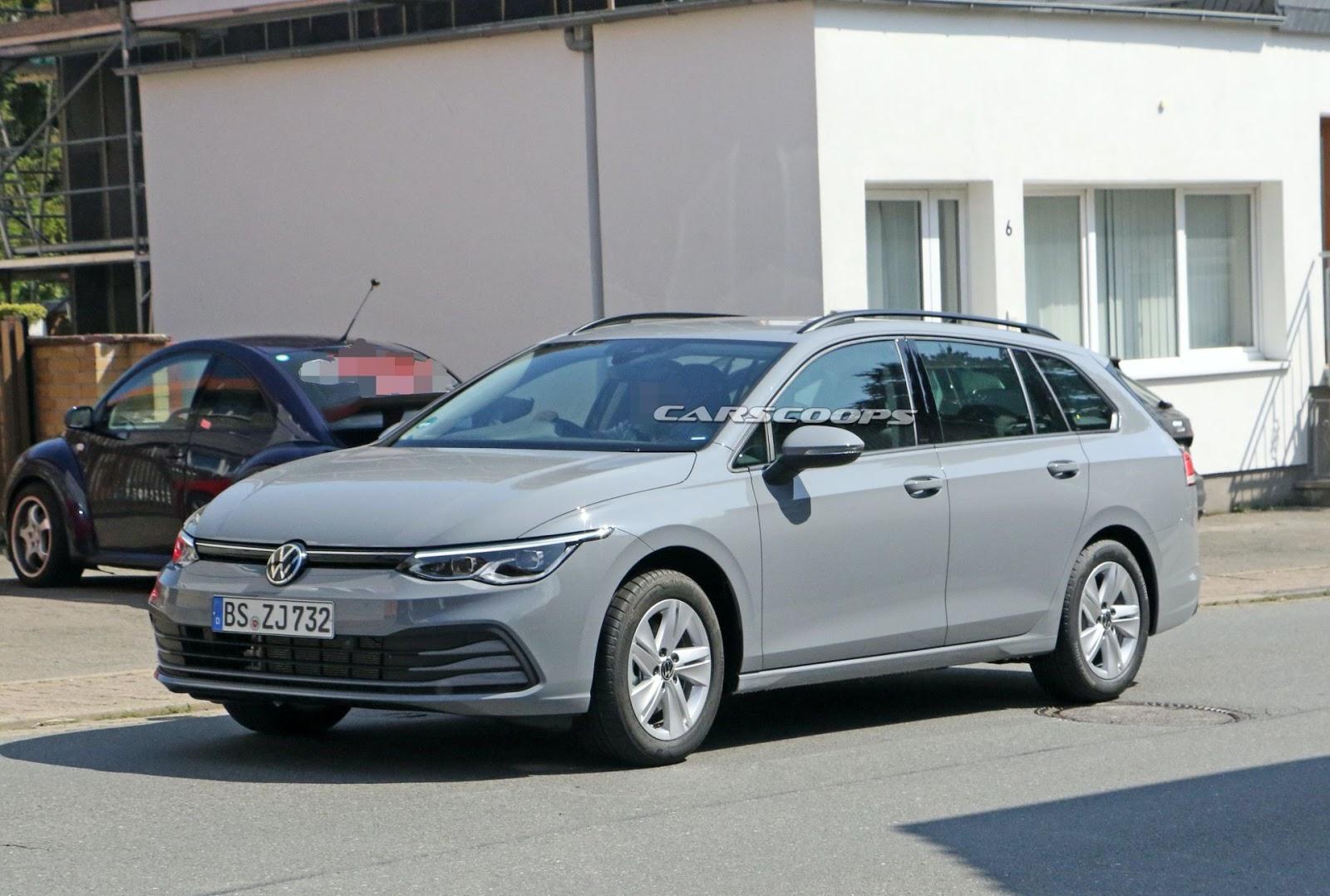 2021 VW Golf Variant spy shot - MS+ BLOG