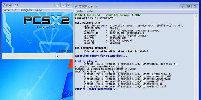 Spesifikasi PC PCSX2 Emulator