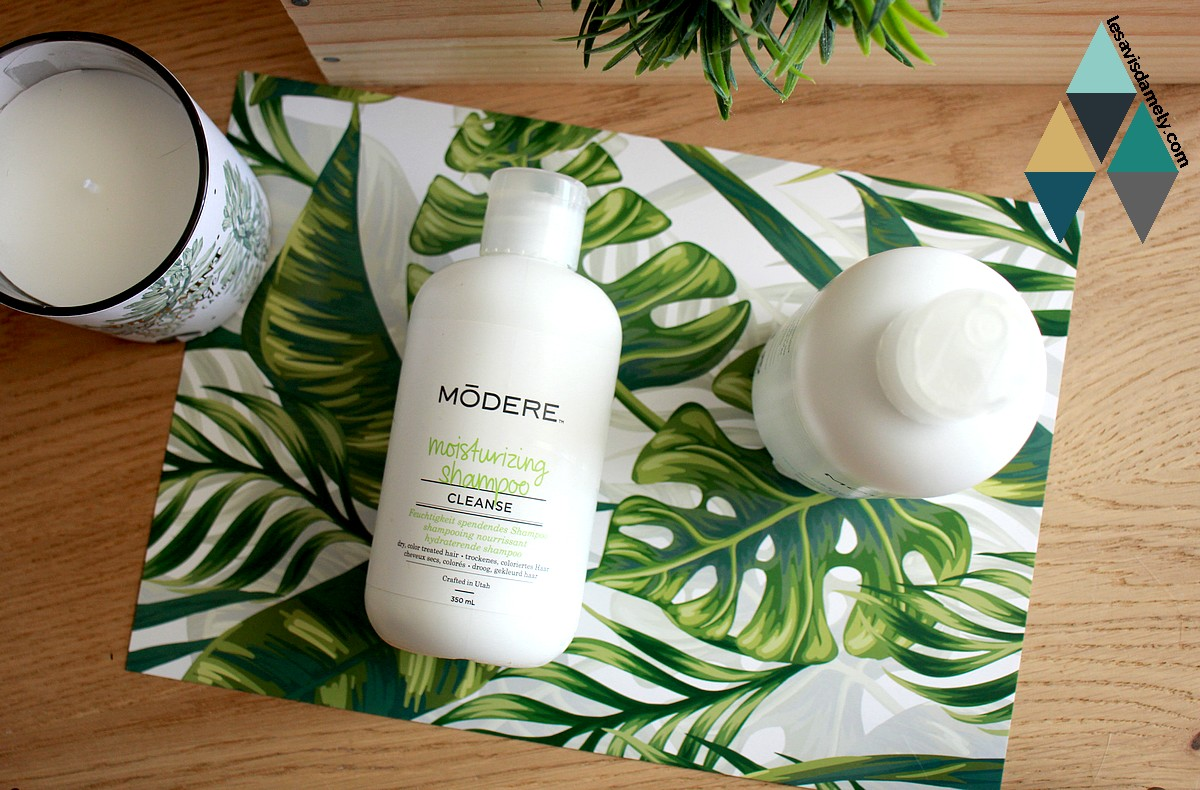 revue beauté Modere routine capillaire shampoo et conditionner