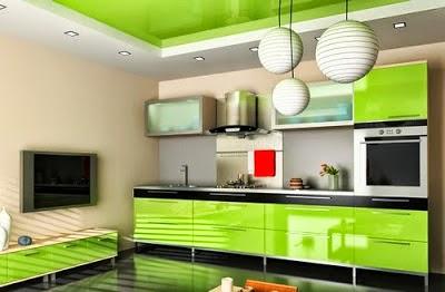 Cocina verde neón