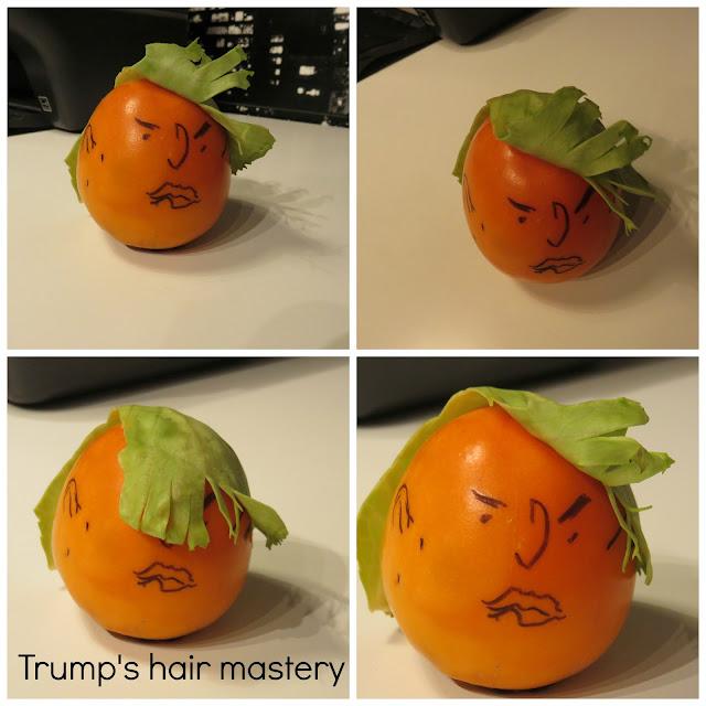 Food shaped like Trump