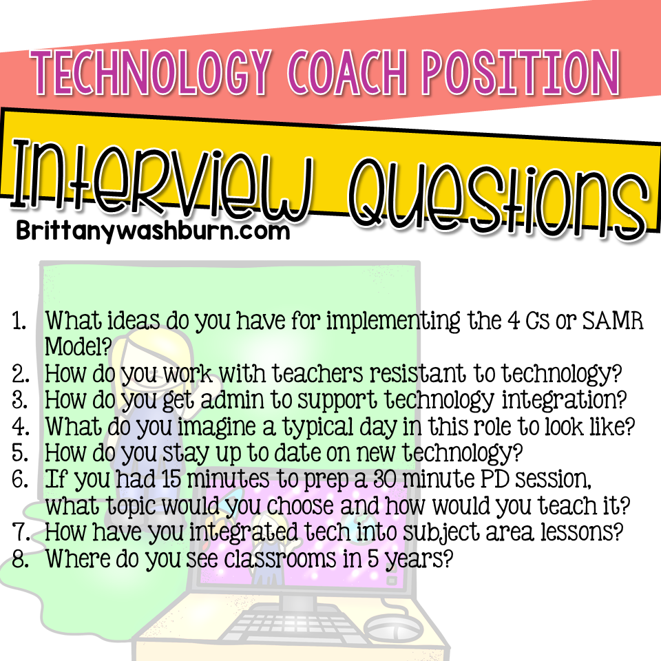 Technology Teaching Resources With Brittany Washburn Technology Teacher Interview Questions