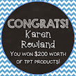 CONGRATS TO KAREN ROWLAND FROM ADVENTURES WITH FIRSTIES