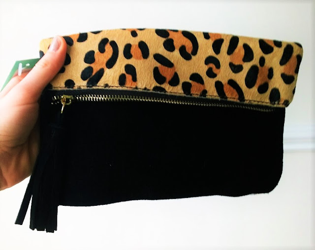 Stitch Fix Review Leopard Clutch Back