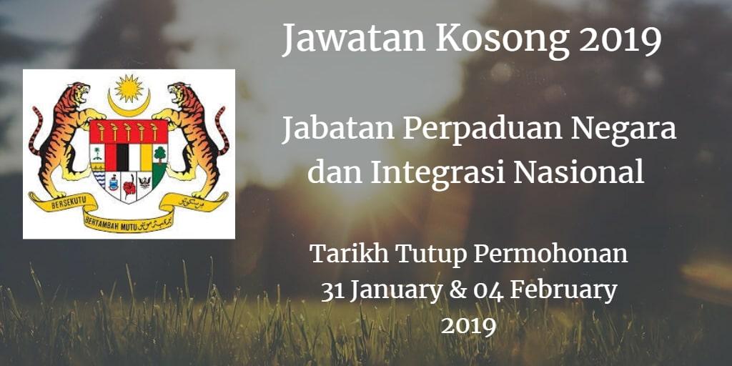 Jawatan Kosong JPNIN 31 January & 04 February 2019