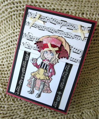 visible image stamps clara steampunk character stamp