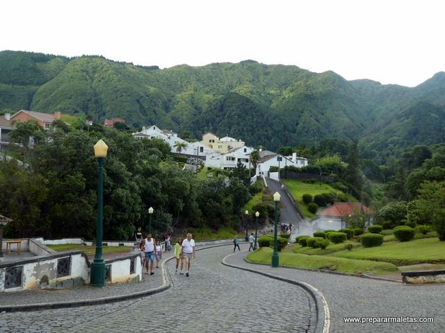 Furnas pueblo, antiguo volcán