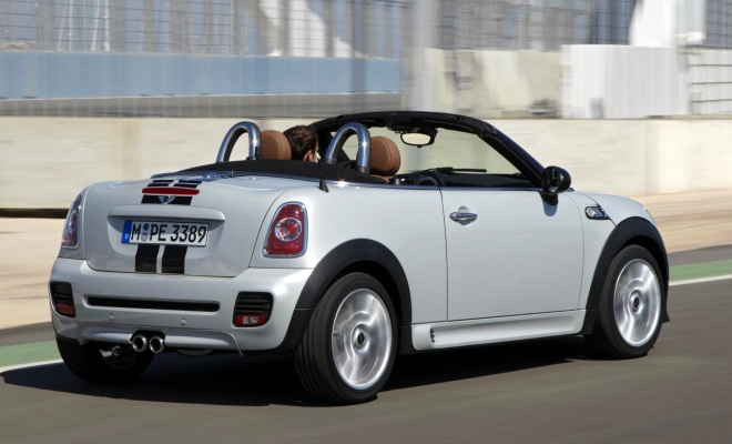 Mini Roadster with roof open