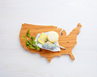 american map cutting board