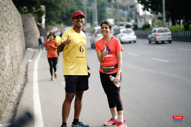 "The Hyderabad Runners Society organised a ""Dry Run"" of 21.195km as part of upcoming Airtel Hyderabad Marathon 2017"