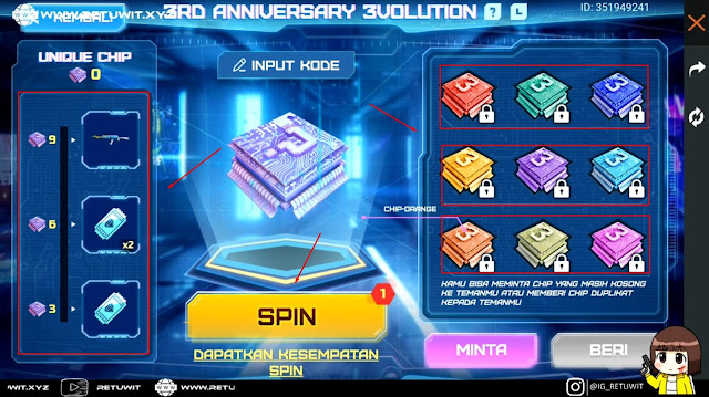 Berbagi Kode Token Chip Web Event 3rd Anniversary Free Fire
