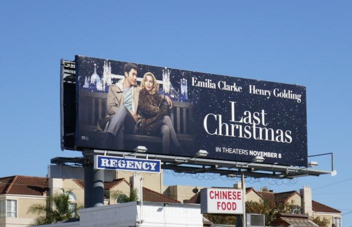 Last Christmas movie billboard