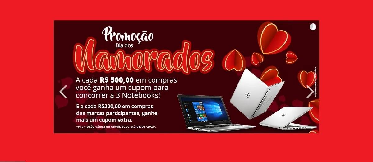 Promoção PMG Atacadista 2020 Dia dos Namorados - Concorra 3 Notebooks