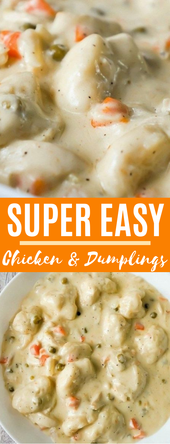 Easy Chicken and Dumplings with Biscuits #dinner #recipes #comfortfood #chicken #soup