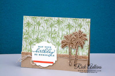 timeless tropical stamp set, label me lovely punch, in the tropics dies, CASE, Rick Adkins, Stampin' Up!