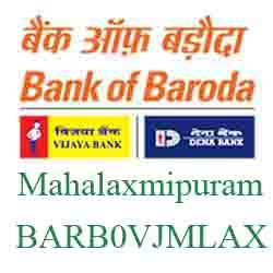 Vijaya Baroda Bank Mahalaxmipuram Branch Branch New IFSC, MICR