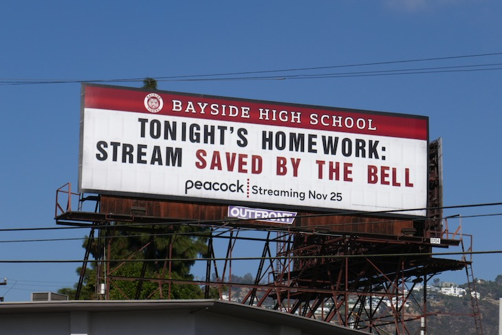 homework Stream Saved by the Bell billboard