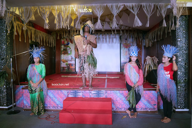 "Cultural performances depicting the ""orang asli"" of Malaysia, at Flavours of Malaysia"