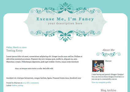 10 free cute and fancy blogger templates