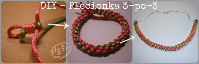 DIY: Biżuteria pleciona z 3 sznurków krok po kroku