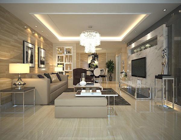 Modern living room 3D model free 3ds max model