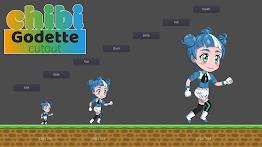 Chibi Godette Cutout Screenshot 2