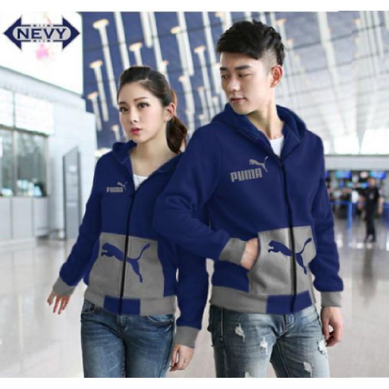 Jual Online Jaket Puma Pocket Navy Misty Couple Murah Jakarta Bahan Babytery Terbaru