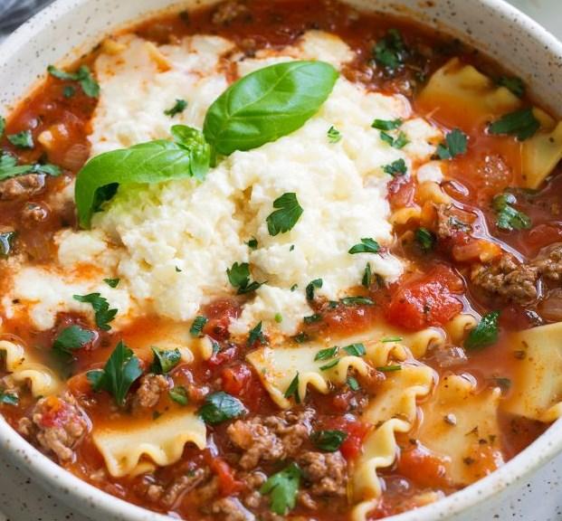 Lasagna Soup #dinner #recipe