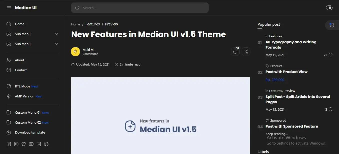Median-UI-Blogger-Template-Dark-Mode