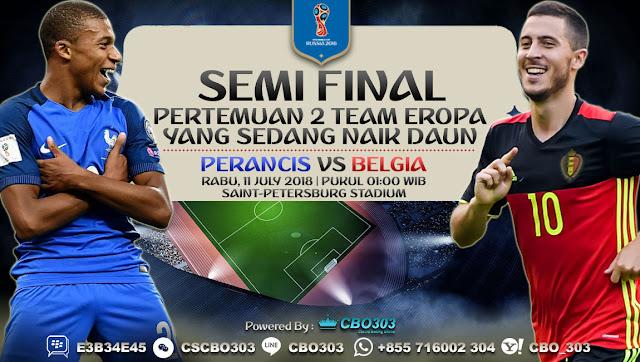 Prediksi Bola Piala Dunia 2018 Perancis VS Belgia 11 July 2018
