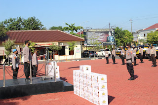 Apel Pendistribusian Bantuan Sembako Polres Jepara beserta Polsek jajaran, Kepada Masyarakat Kurang Mampu Dalam Rangka Pelaksanaan PPKM Darurat