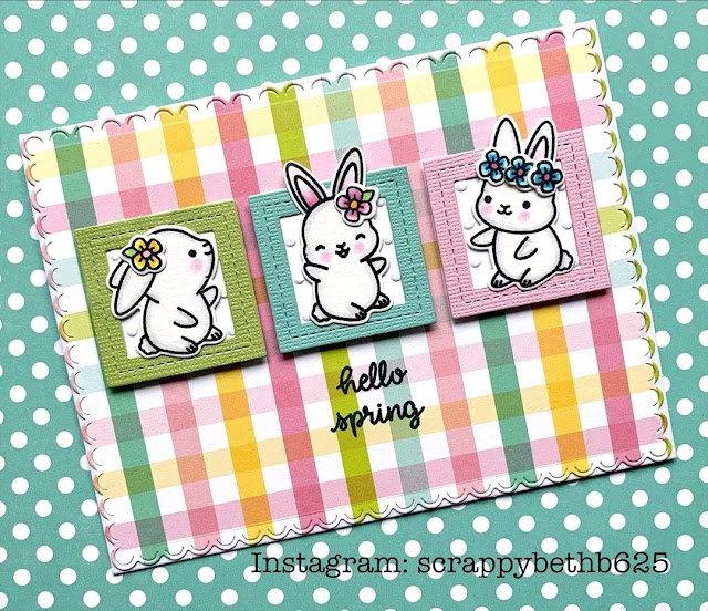 Sunny Studio Stamps: Chubby Bunny Customer Card by Scrappy Beth