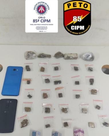 PETO da 85ª CIPM prende indivíduo por tráfico de drogas em Luís Eduardo Magalhães