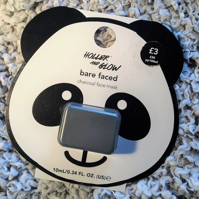 Holler and Glow Charcoal Face Mask