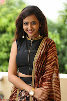 Lasya looks super cute in black choli Saree at Raja Meru Keka Press Meet ~  Exclusive 019.JPG