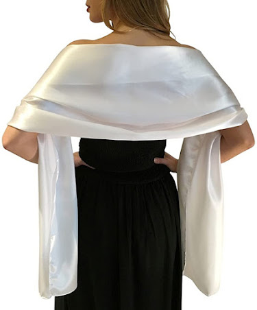 Satin Shawls Wraps Scarfs for Evening Dresses