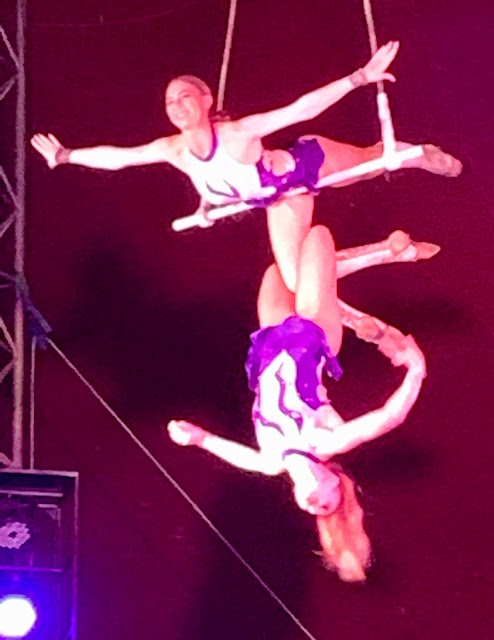performers at Zippos Christmas Circus 2019, Hyde Park Winter Wonderland
