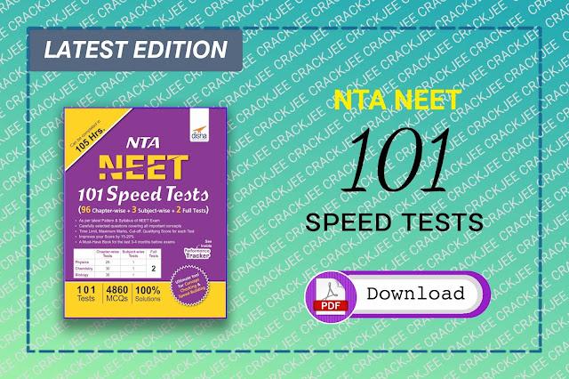 Download Disha NTA NEET 101 Speed Tests 2020 Pdf