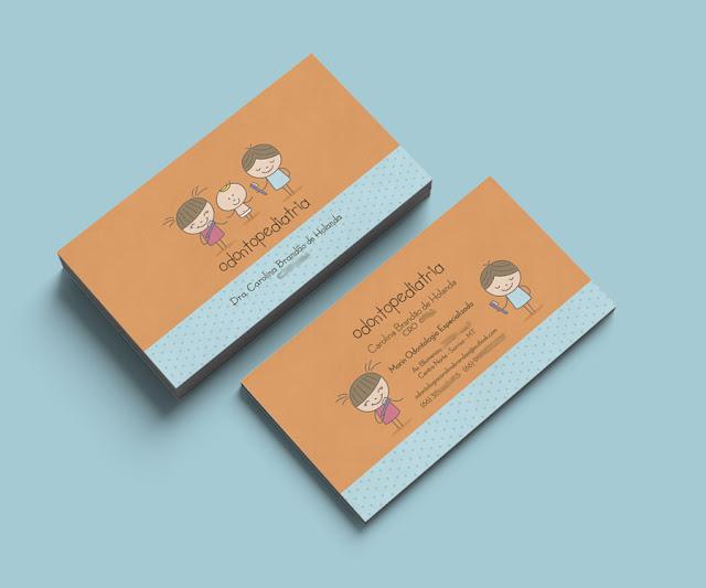 cartão de visita odontopediatra